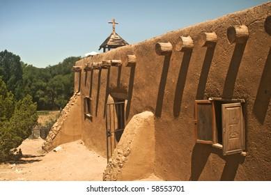 Morada de la Conquistadora in Santa Fe from Rancho de Las Golondrinas