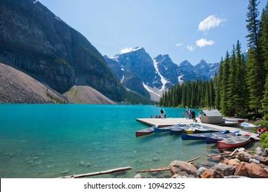 Moraine Lake at Banff National Park, Alberta, Canada