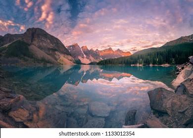 Moraine lake at Banff National Park, Canada.