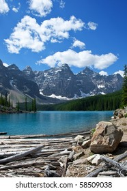 Moraine Lake in Banff National Park.