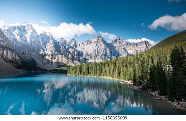 Moraine Lake Banff National Park Alberta Stock Photo Edit