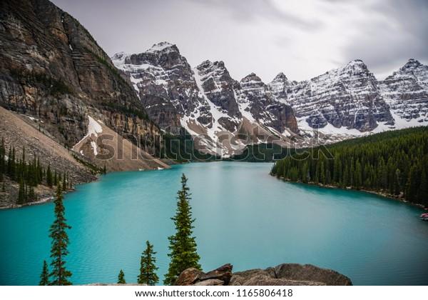 Moraine Lake Banff National Park Winter Stock Photo Edit