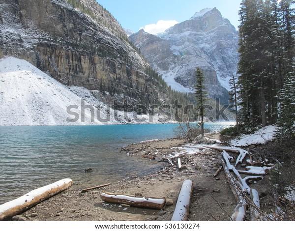 Moraine Lake Banff National Park Alberta Stock Image