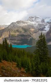 Moraine Lake from the Eiffel Lake Trail, Alberta, Canada