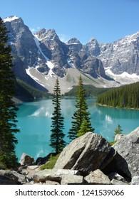 Moraine Lake Rock Formation