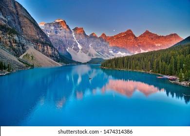 Moraine Lake, Rocky Mountains, Alberta, Canada