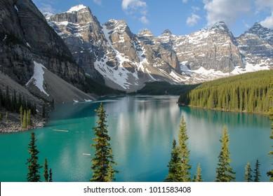 Moraine Lake in the Spring Morning, Banff National Park, Canadian Rockies, Alberta, Canada