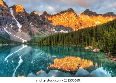 Moraine Lake is a well known place in Canada.