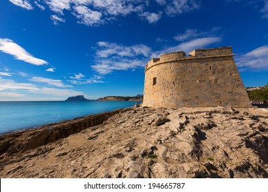 Moraira Castle in teulada beach at Mediterranean Alicante of Spain
