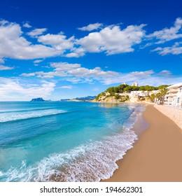 Moraira playa El Portet beach turquoise water in Teulada Alicante Spain
