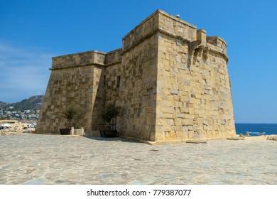 Moraira, Spain - July 24th 2017: Castillo de Moraira, Moraira, Costa Blanca, Spain.
