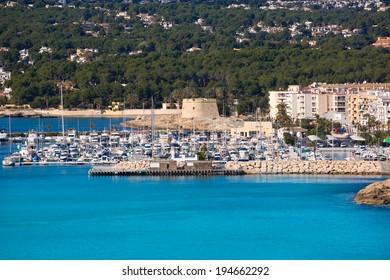 Moraira Teulada marina port in Alicante Mediterranean Spain