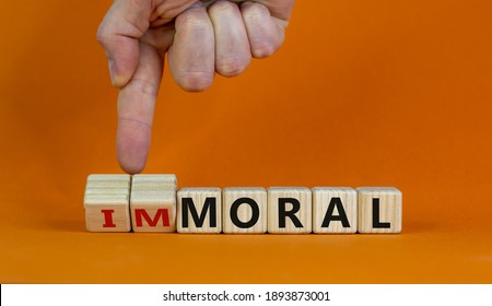 SriLanka - CSE - The World's best performer! Moral-immoral-symbol-hand-turns-260nw-1893873001