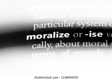 moralize word in a dictionary. moralize concept.