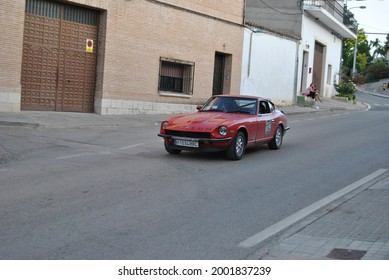 Morata de Tajuña, Spain- June 25 2011: Rallye cars in local competition