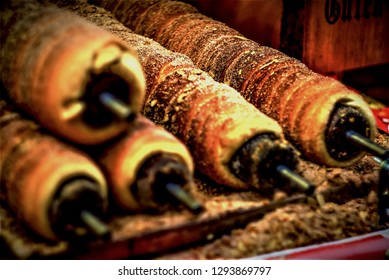 Moravia TRDELNIK - pastry that is sold in Europe - in this case are in Germany Christmas markets.