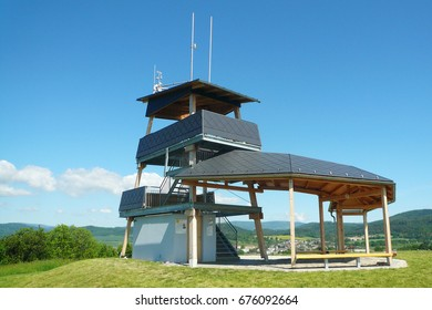 MORAVIAN REGION, CZECH REPUBLIC, MAY 27, 2017 - The new viewing tower on the hill Brusna near Bludov