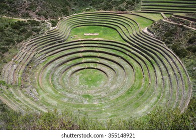Moray is an archaeological site in Peru approximately 50 km (31 mi) northwest of Cuzco on a high plateau at about 3500 m (11,500 ft).