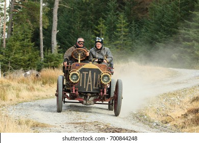 MORAY, SCOTLAND - APRIL 1, 2017: A 1907 Italia 40 competes on the 2017 Flying Scotsman Rally for Pre War cars organised by ERA (Endurance Rally Association).