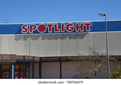 Morayfield, Queensland, Australia. August 2017 - editorial use only: Large sign for Spotlight drapery and craft store.