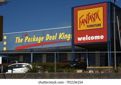 Morayfield, Queensland, Australia. August 2017 - editorial use only: Fantastic Furniture homewares store - the package deal kings.
