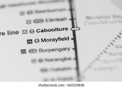 Morayfield Station. Brisbane Metro map.