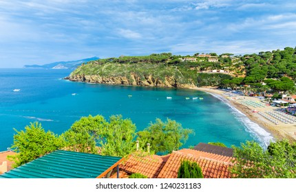 Morcone beach on the western side of  Monte Calamita, Capoliveri region, Elba Island, Tuscany, Italy