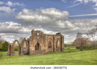 A more distant HDR shot of the South side of Lincluden Collegiate Church (also know as Priory or Abbey) in Dumfries.