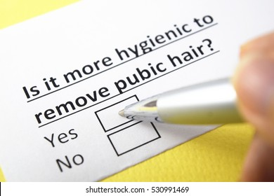 Is it more hygienic to remove pubic hair? Yes