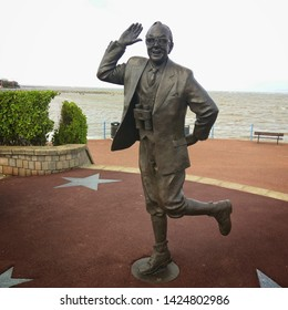 Morecambe, England, UK 06/15/2019 Statue of comedian Eric Morecambe