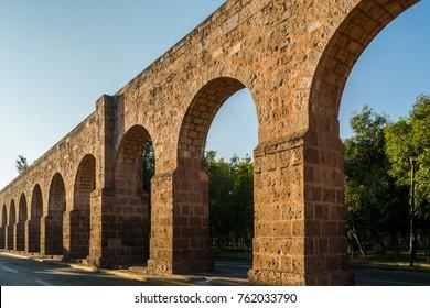 Morelia Aqueduct in Morelia, Mexico