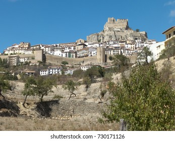 Morella in Spain with its castle and its walls