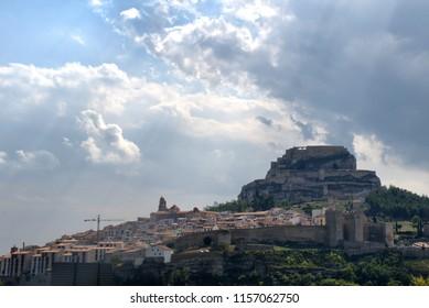 Morella village with a Castle