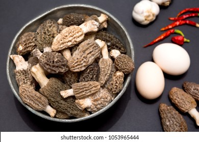 Morel's are distinctive mushrooms. They are prized by gourmet cooks, particularly for special cuisine.