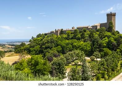 Moresco (Ascoli Piceno, Marches, Italy) - The medieval village