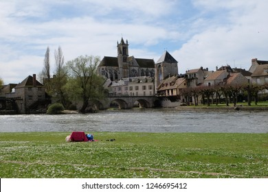 Moret Sur loing, A very peaceful and charming town nearby Paris, April 2018