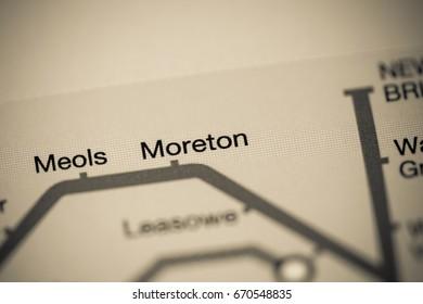 Moreton Station. Liverpool Metro map.