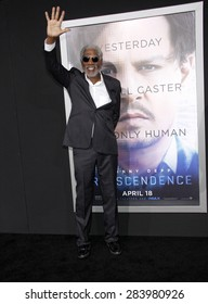 """Morgan Freeman at the Los Angeles premiere of """"Transcendence"""" held at the Regency Village Theatre in Westwood on April 10, 2014 in Los Angeles, California."""