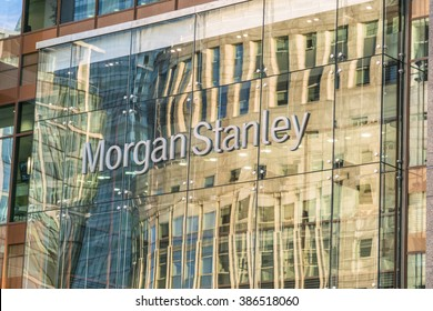 Morgan Stanley Building at Canary Wharf - LONDON/ENGLAND  FEBRUARY 23, 2016