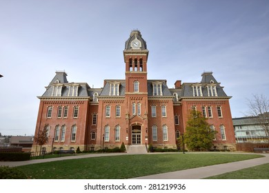 MORGANTOWN - NOVEMBER 23: Woodburn Hall on West Virginia University's (WVU) downtown campus as shown November 23, 2014 in Morgantown, WV. Woodburn is an iconic building on the WVU campus.