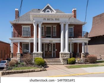 MORGANTOWN, WV - 23 MARCH 2019: Phi Beta Phi fraternity at West Virginia University in Morgantown WV