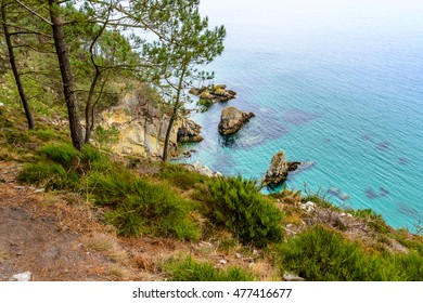 Morgat, sea view from the cliffs, Finistere Brittany