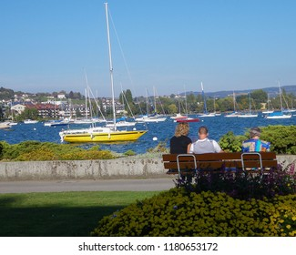 Morges, Switzerland, between Geneva and Lausanne, along Geneva Lake