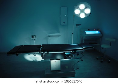 morgue medical room, medical clinic, surgical table in the morgue