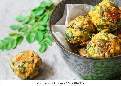 Moringa leaves fritters or Muringa Cheese bites- healthy veg appetizers