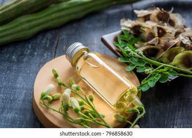 Moringa Oil and seeds, The seeds of the Moringa tree are pressed oil known as Ben Oil yellow