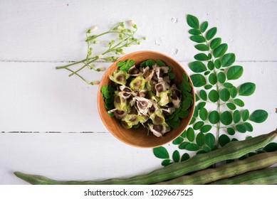 Moringa, Moringa oleifera leaves, Moringa seed,flowers and leaves of Moringa