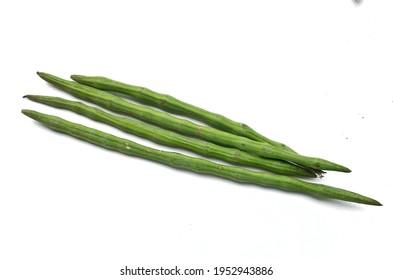 Moringa oleifera pods, or drumsticks. Drumsticks are most nutritious vegetable