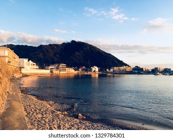 Morito coast of sunset in Hayama-machi, Kanagawa prefecture - 50 Kanagawa scenic spots
