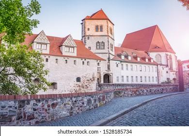 Moritzburg Halle an der Saale. German castle in the city of Halle Saale.
